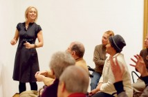 Francesca Rosenberg leads people with Alzheimer's and their caretakers in a discussion at the Museum of Modern Art.