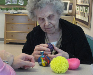 Toys for people with Alzheimer's disease | Box of Balls - stimulating toy for people with Alzheimer's
