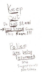 Stages of Alzheimer's   A note from Bernice to burglars
