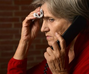 Elderly woman on the phone | Activities of daily living for Alzheimer's disease