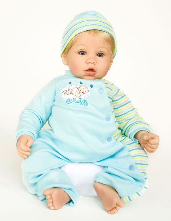 Doll therapy for Alzheimer's disease - Lil Peanut from our Cuddle Babies collection.