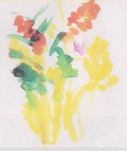 Creating Art as Therapy for Alzheimer's | Floral Beauty - A painting by a participant in the Memories in the Making program