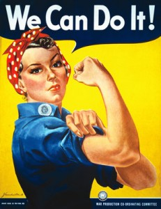 Reminiscence and Alzheimer's Disease | We Can Do It: Vintage WWII poster showing Rosie the Riveter.